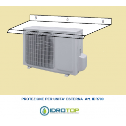 Protezione per unità esterna per condizionatori-Copertura di facile installazione