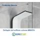 Colonna Doccia BRENTA Multifunzione Idromassaggio Alluminio Bianco Anodizzato