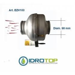 Ventilatore diam.98 mm Estrattore Aria Intubato per Aria Calda 60°max