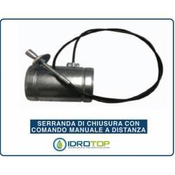 Serranda di Chiusura diam.80 mm con Comando Manuale a Distanza per Canale o Tubazione