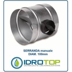 Serranda di Chiusura diam.100 mm Regola l'aria nella condotto o nella tubazione Flessibile