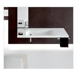 Lavabo Grandangolo G-150 in Ceramica. Possibilità di Installazione a Muro o a Parete 1500x500 Hatria
