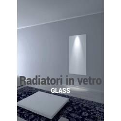 Radiatore in Vetro CORNER H150 x L 60 cm colore BIANCO minimo ingombro-Ponsi Scaldasalviette