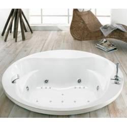 Vasca incasso Mod. GLOBE-tonda cm180 acrilico bianco