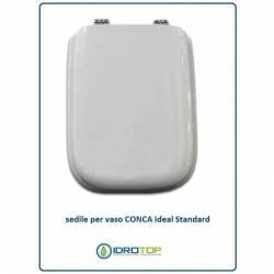 Copriwater Ideal Standard  CONCA BIANCO  Cerniera Cromo-Sedile-Asse Wc