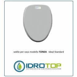 Copriwater Ideal Standard TONDA BIANCO I.S. Cerniera Cromo-Sedile-Asse Wc