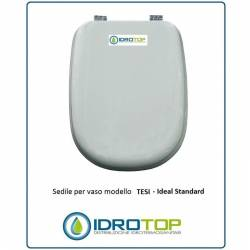Copriwater Ideal Standard  TESI BIANCO I.S.  Cerniera Cromo-Sedile-Asse Wc