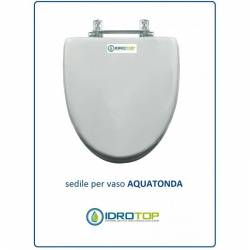 Copriwater Ideal Standard  AQUATONDA BIANCO I.S.  Cerniera Oro-Sedile-Asse Wc