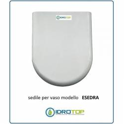 Copriwater Ideal Standard ESEDRA BIANCO I.S. Cerniera Cromo-Sedile-Asse Wc