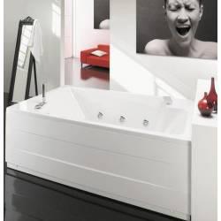 Vasca da bagno Mod. MAXIMA DUO190x120 con pannelli (frontale e laterale) e telaio