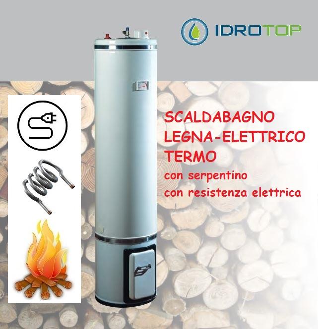 Scaldabagno a legna termo elettrico lte80 scaldacqua - Installazione scaldabagno elettrico ...