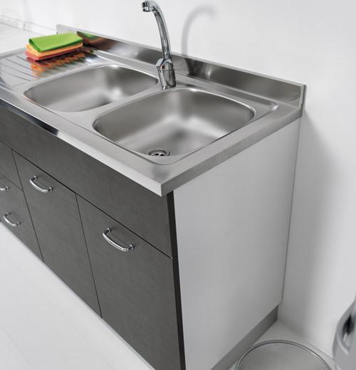 Sottolavello mobile per cucina 120 X 60 per lavello inox