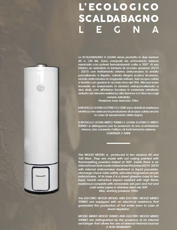 Scaldabagno lemt80 a legna termo elettrico vetroporcellanato raveggi - Valvola di sicurezza scaldabagno elettrico ...
