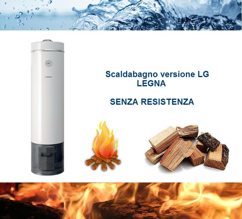 Scaldabagno lge 80l a legna elettrico ad accumulo in acciaio - Resistenza scaldabagno ...