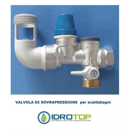 Gruppo di sovrapressione e sicurezza 7 bar per scaldabagni e boiler - Valvola di sicurezza scaldabagno elettrico ...