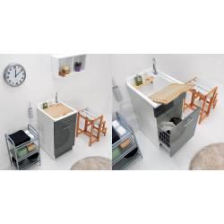 Lavatoio JOLLYWASH 60X60x86  Colavene lavapanni con mobile con ampia profondità