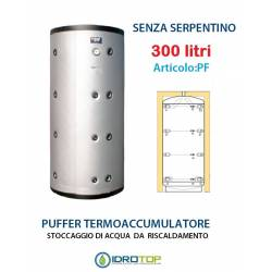 Puffer 300 lt Serbatoio Accumulo per Acqua Riscaldamento Senza Serpentino
