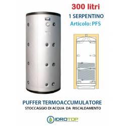 Puffer 300 lt Serbatoio con 1 Serpentino - Accumulo per Acqua Riscaldamento