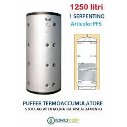 Puffer 1250 lt Serbatoio con 1 Serpentino - Accumulo per Acqua Riscaldamento