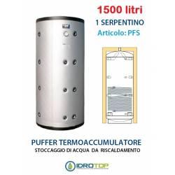 Puffer 1500 lt Serbatoio con 1 Serpentino - Accumulo per Acqua Riscaldamento