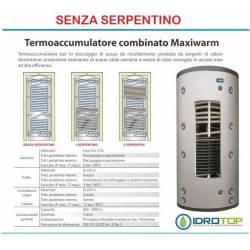 Termoaccumulatore Senza Serpentino ACS+ACT Bollitore Combinato Serbatoio acqua Calda.