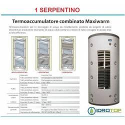 Termoaccumulatore 1 Serpentino ACS+ACT Bollitore Combinato Serbatoio acqua Calda