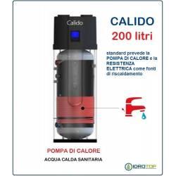 Pompa di Calore 200 Lt. per Acqua Calda Sanitaria ACS  con Serbatoio CALIDO