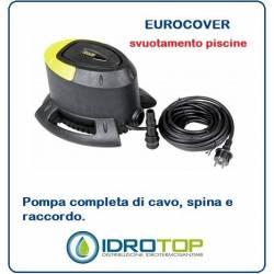 Pompa per Piscina Eurocover. Permette di Svuotare sia la Piscina che il Telo di Copertura