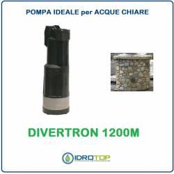 Pompa Sommersa Multigirante DIVERTRON 1200M per acque pulite con cavo 15mt.