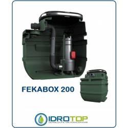 Serbatoio Automatico Fekabox 200 per 1 Pompa. Stazione di Sollevamento Acqua