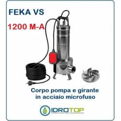 Pompa Sommergibile FEKA VS 1200 M-A con Galleggiante cavo e Spina.Per acque Nere