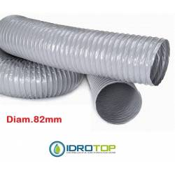 Tubo Flessibile PVC diam. 82 Semplice Estensibile a 10 mt