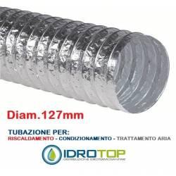 Tubo Flessibile diam. 127 in Alluminio Semplice Estensibile 10 mt.
