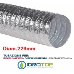Tubo Flessibile diam. 229 in Alluminio Semplice Estensibile 10 mt.