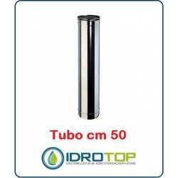 Tubo Cm 50 Monoparete  in Acciaio Inox per Caminetti e Stufe