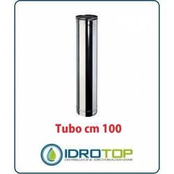Tubo Cm 100 Monoparete  in Acciaio Inox per Caminetti e Stufe