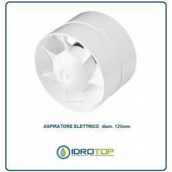 Aspiratore diam.125 Elettrico per Canale o Sopra Cappa Tiraggio Aspirazione Cappa
