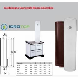 Scaldabagno Soprastufa Bianco adattabile a tutte le Stufe in commercio.