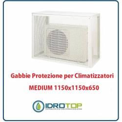 Gabbie di protezione MEDIUM 1150x1150x650 mm per Climatizzatori Unità Esterna