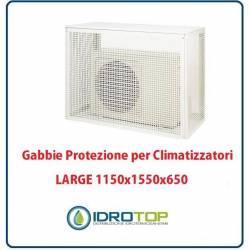 Gabbie di protezione LARGE 1150x1550x650 per Climatizzatori Unità Esterna