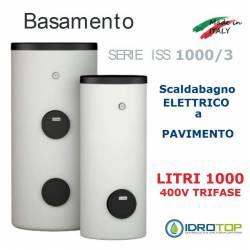 Scaldacqua ISS 1000/3 - 1000L Elettrico a Pavimento ad Accumulo in Acciaio Vetroporcellanata Styleboiler