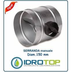 Serranda di Chiusura diam.150 mm Regola l'aria nella condotto o nella tubazione Flessibile