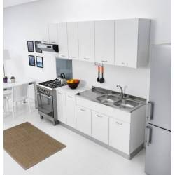 Mobile sottolavello 120 per cucina doppia anta abbinabile al lavello inox in tre colori
