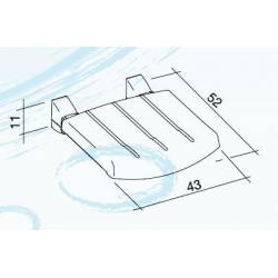 Sedile disabili Morbido da MURO ribaltabile verso la parete, e' dotato di solidi supporti in alluminio pressofuso BIANCO K desig