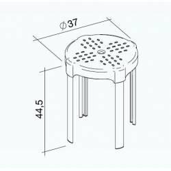 Sgabello disabili Da bagno,altezza 44,5cm BIANCO K design