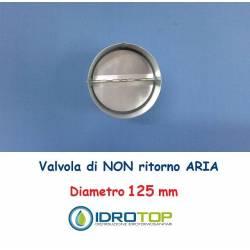 Valvola d.125 di NON RITORNO ARIA per le Tubazioni flessibili e rigide Aria Calda e Fredda