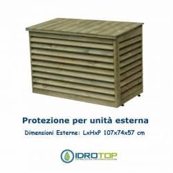 Protezione-Copertura in Legno per Unità Esterna Climatizzatori-Coperchio Amovibile