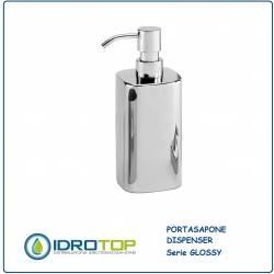 Portasapone con Dispenser GLOSSY in Acciaio Inox Lucido Ibb GL21D