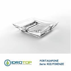 Portasapone RIZ/FIRENZE in Acrilico Trasparente Ibb FI21A
