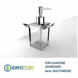 Portasapone a Dispenser RIZ/FIRENZE in Acrilico Trasparente Ibb FI21DA